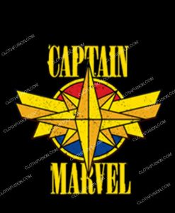 Vintage captain marvel t shirt