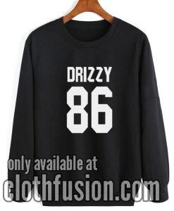 Drake Shirt DRIZZY 86 SweatshirtDrake Shirt DRIZZY 86 Sweatshirt