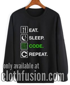 Eat Sleep Code Repeat Sweatshirt