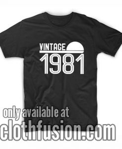 Vintage 1981 Graphic Tee T-Shirts