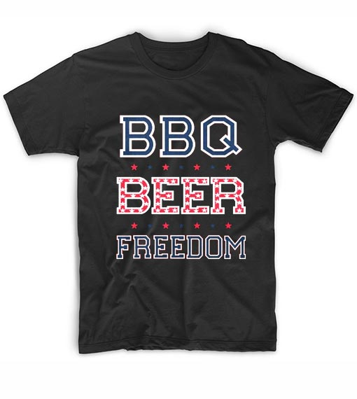 BBQ Beer Freedom T-Shirts