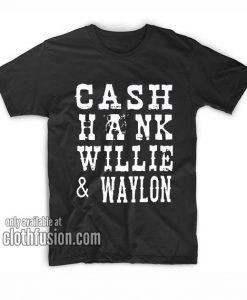 Cash Hank Willie and Waylon T-Shirts