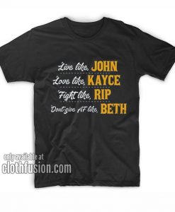Funny Dont Give Af Like Beth Graphic Tees T-Shirts