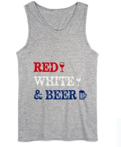Red White and Beer 4th of July Tank top