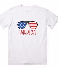 Usa Flag Sunglasses T-Shirts