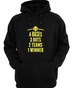 4 Bases 3 Outs 2 Teams 1 Winner Hoodies