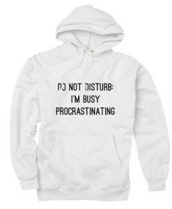 Do Not Disturb I'm Busy Procrastinating Hoodies