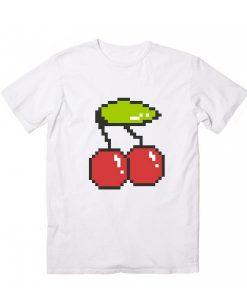 Cool 8 bit cherry Short Sleeve Unisex T-Shirts