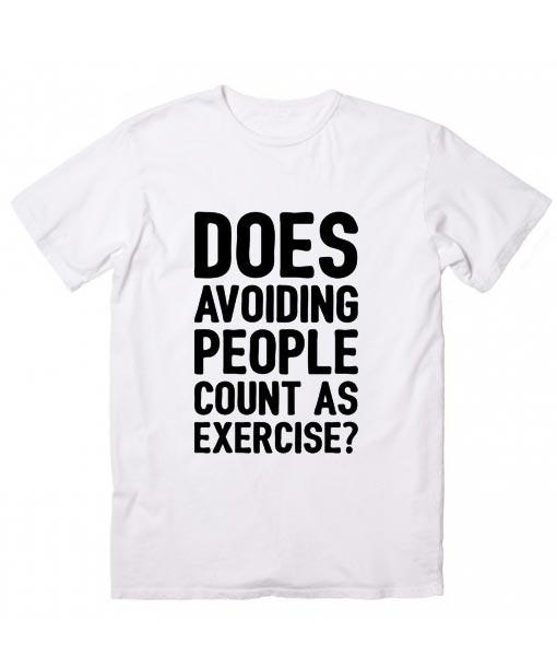 DOES AVOIDING PEOPLE Short Sleeve Unisex T-Shirts