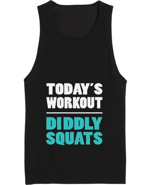 Diddly Squats Funny Workout Tank top