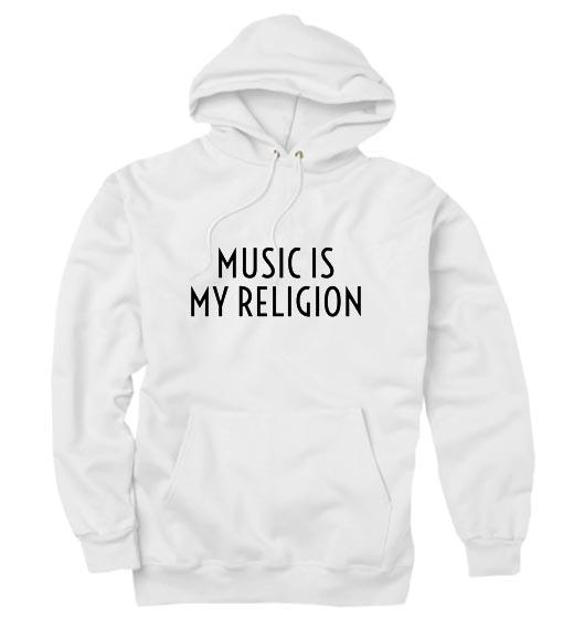 Music is My Religion Hoodies