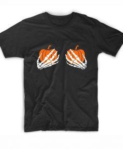 Skeleton Hands Shirt Funny Halloween Shirt Short Sleeve Unisex T-Shirts