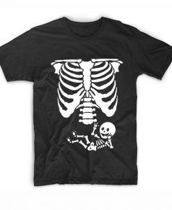 Baby Skeleton Ribs Halloween Maternity Short Sleeve Unisex T-Shirts