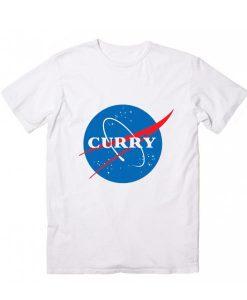 Curry NASA Logo Sleeve Unisex T-Shirts