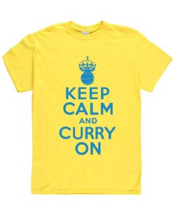 Keep Calm And Curry On Sleeve Unisex T-Shirts